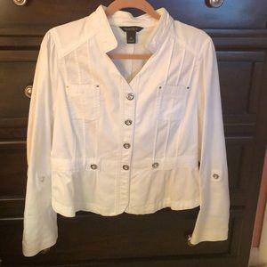 WHBM white Summer Jacket